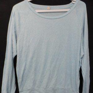 TNA, size medium, light blue long sleeve shirt